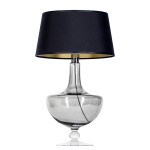 Lampa na stół OXFORD TRANSPARENT BLACK L048311514 4concepts