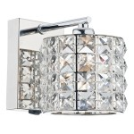 Agneta 1 Light Wall Bracket Polished Chrome