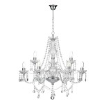Katie 9 Light Chandelier Polished Chrome Acrylic Glass